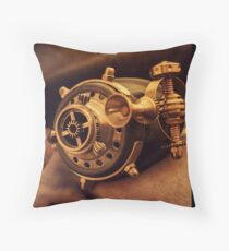 Steam punk pirate Throw Pillow