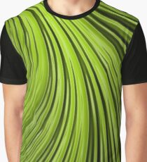 Green Flow Abstract Graphic T-Shirt