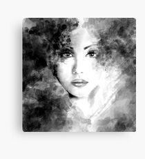 Beautiful woman face. Abstract fashion illustration Canvas Print