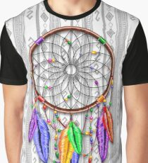 Dreamcatcher Rainbow Feathers Graphic T-Shirt