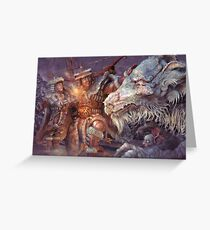 Meeting the Elder Dragon Greeting Card