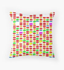 Colourful Flowchart Design Throw Pillow