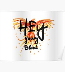 "Phoenix - Fall Out Boy ""Hey Junge Blut"" Design Poster"