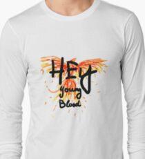 "Phoenix- Fall Out Boy ""Hey Young Blood"" Design  Long Sleeve T-Shirt"