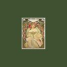 Alphonse Mucha Painting III by cinn