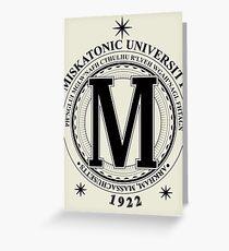 Miskatonic University - Fhtagn (Light) Greeting Card