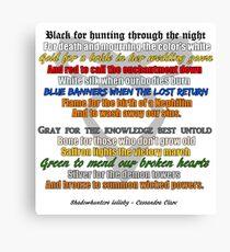Shadowhunters lullaby  Canvas Print