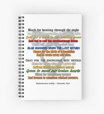 Shadowhunters lullaby  Spiral Notebook