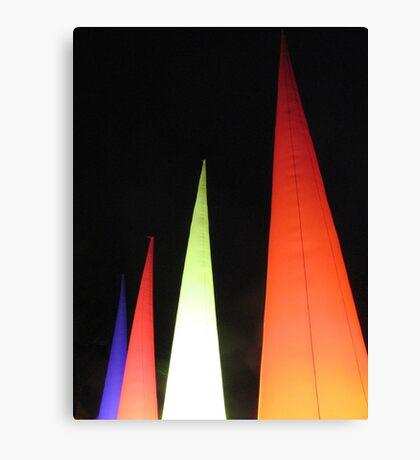 Coloured cones Canvas Print