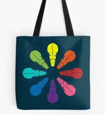 Color: Hippo Rainbow Pinwheel Tote Bag