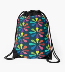 Color: Hippo Rainbow Pinwheel Drawstring Bag