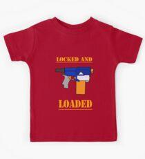 NERF TOY DESIGN - gesperrt und geladen Kinder T-Shirt