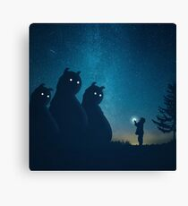 The Gift (blue) Canvas Print