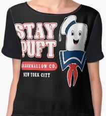 Stay Puft Marshmallow Chiffon Top