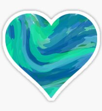 blank cool colored heart Sticker