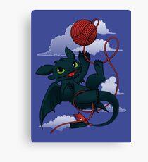 Dragons just wanna get fun - day version Canvas Print