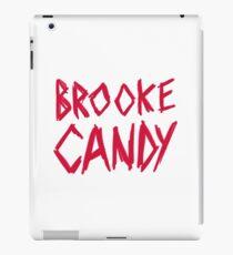 Brooke Candy - Red Brush Logo iPad Case/Skin