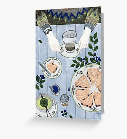 Blueberry Scones Greeting Card