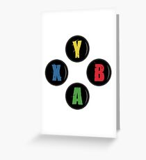 X Box Buttons - Grunge Style Greeting Card