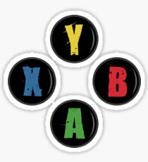 X Box Buttons - Grunge Style Sticker