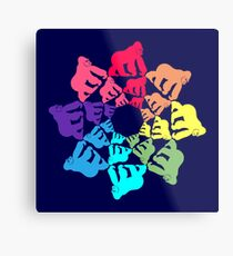 Color: Rainbow Gorillas Metal Print