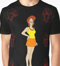 Janine in Red Graphic T-Shirt