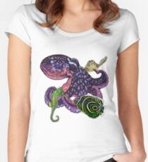 Marine life 2 Women's Fitted Scoop T-Shirt