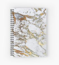 Golden marble Spiral Notebook