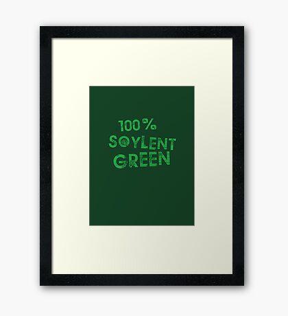 100% SOYLENT GREEN Framed Print