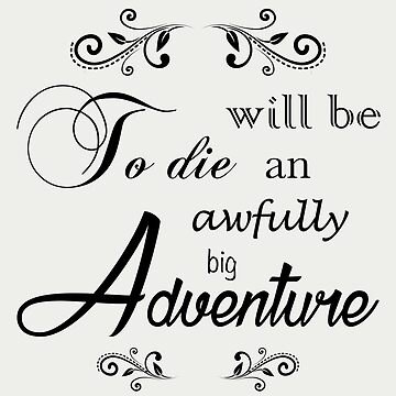 Peter Pan Quote - Black Font by nyr1301