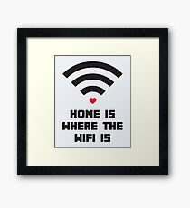 Home Where WiFi Is Funny Quote Framed Print