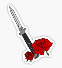 Switchblade with Rose Sticker