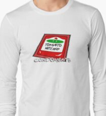 Condoments #1 - Tomato Ketchup Long Sleeve T-Shirt
