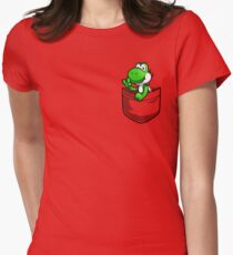 Pocket Yoshi Womens Fitted T-Shirt