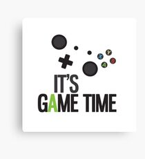 It's Game Time Canvas Print