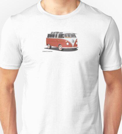 Hippie 21 Window VW Bus Red/White  T-Shirt