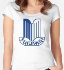 TRIUMPH MOTOR CAR Women's Fitted Scoop T-Shirt