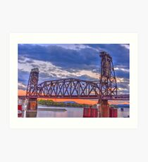 Choo Choo Bridge Art Print