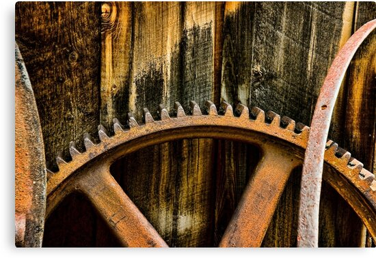 Lebanon Silver Mine Gears by Catherine Fenner