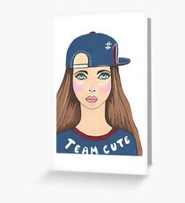 Team Cute Greeting Card