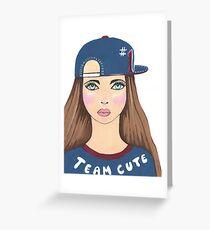Team Cute Greeting Card
