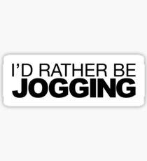 I'd rather be Jogging Sticker