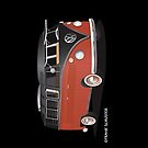 21 Window VW Bus Red Black by Frank Schuster