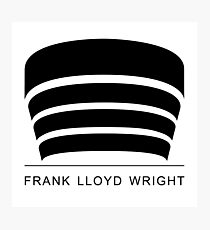 Frank Lloyd Wright Logo Photographic Print