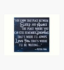 peter pan quote - painting Art Print