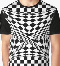 Twisted Checkers Graphic T-Shirt