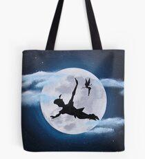 peter pan moon - acrylic painting Tote Bag
