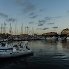 As the Evening Gently Comes - Ortygia, Syracuse, Sicily Grand Harbor  by Georgia Mizuleva