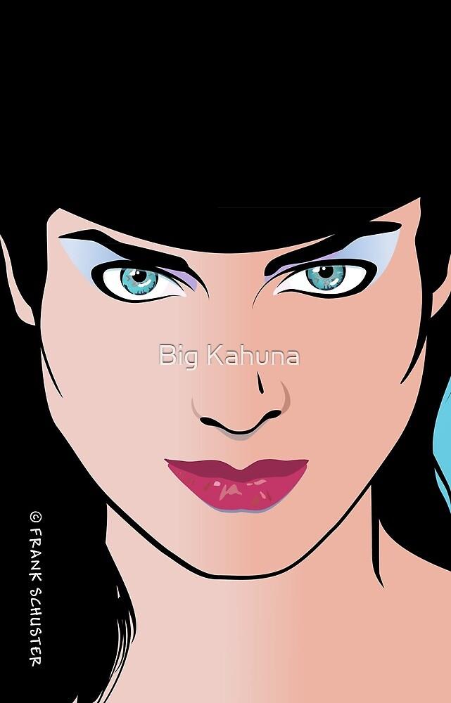 Pop Art Illustration of Beautiful Pop Art Woman Erin by Frank Schuster
