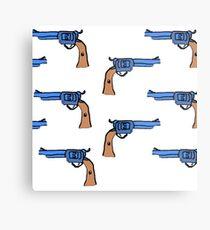 artsy gun pattern  Metal Print